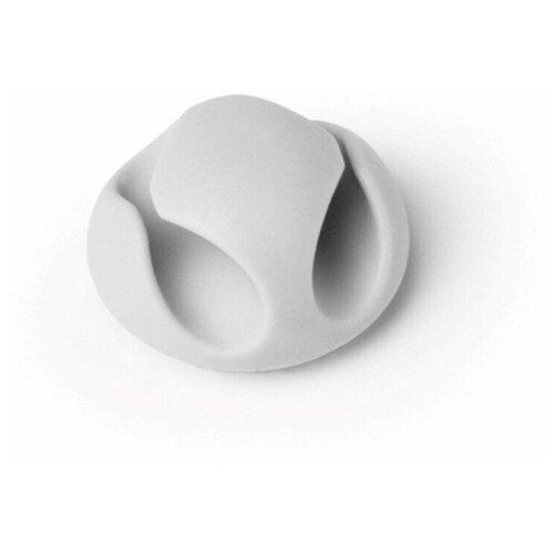 Фиксатор на 2 кабеля до 5мм DURABLE CAVOLINE® CLIP 2, серый, 6шт./уп.