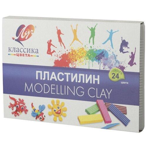 Фото - Пластилин Луч Классика 24 цв 480 гр., 28С 1642-08 2 шт. набор для творчества луч пластилиновая мозаика рыбки 28с 1654 08