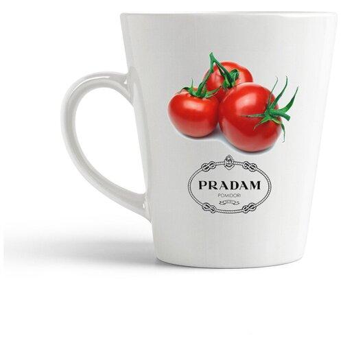 Кружка-латте CoolPodarok Pradam pomidori. Продам помидоры