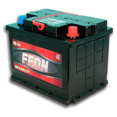 Автомобильный аккумулятор Feon 60Ач 500А обратная полярность