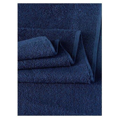 Фото - Полотенце махровое KARNA EFOR 420 гр (90x150) см 1/1; Синий размер 90 х 150 платок женский troll цвет темно синий молочный tsa0345gr размер 150 см х 150 см