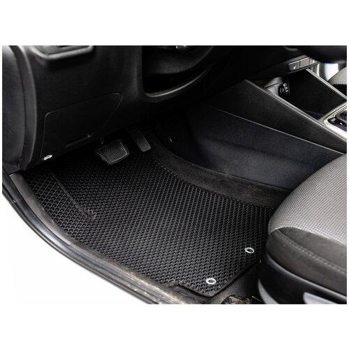 Комплект передних автомобильных ковриков ЕВА Scion xB I 2003-2007 (синий кант) ViceCar