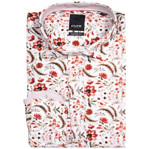 Рубашка pure размер M белый-красный