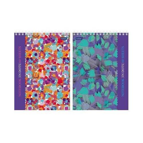 Купить Блокнот Hatber Мозаика А5 60 листов в ассортименте в точку на спирали (148х210 мм) 4 шт., Блокноты и записные книжки