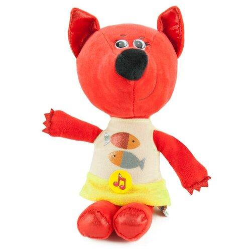 Мягкая игрушка Мульти-пульти Ми-ми-мишки, Лисичка, в платье с рыбками, 20 см, музыкальный чип (V62143-20-2) игрушка мягкая мульти пульти ми ми мишки медвежонок кеша 25 см музыкальный