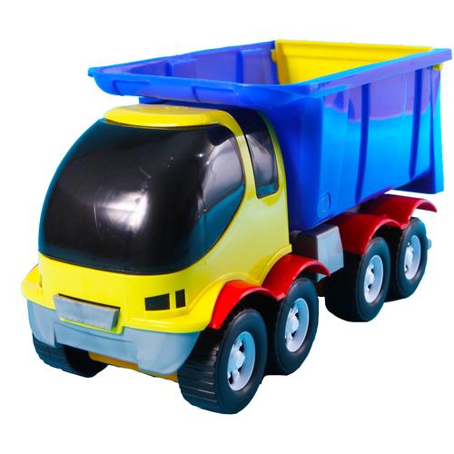 Мусоровоз игрушка большой желтый 41 см MAXIMUS Панда / мусоровоз машинка / машинки игрушки для малышей / машина каталка для мальчиков / машинка детская каталка / машинка игрушка каталка / машинка детская игрушка