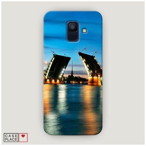 Чехол Пластиковый Samsung Galaxy A6 Разведенные мосты в СПб 2