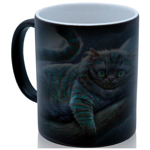 Кружка хамелеон Чеширский кот, красивый подарок