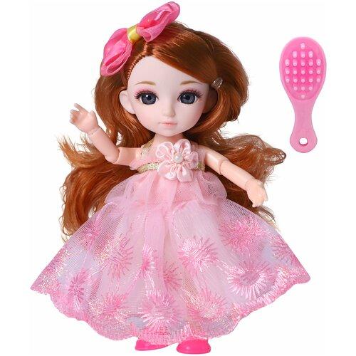 Кукла Малышка Лили рыженькая с расческой, 16 см, Funky Toys FT72001