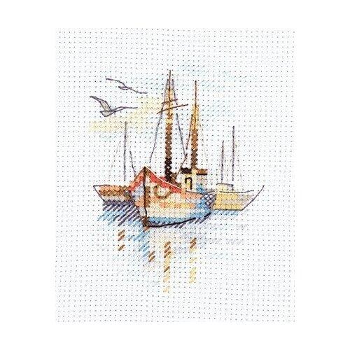 Набор Лодки на рассвете 6х9 Алиса 0-196 6х9 Алиса 0-196)