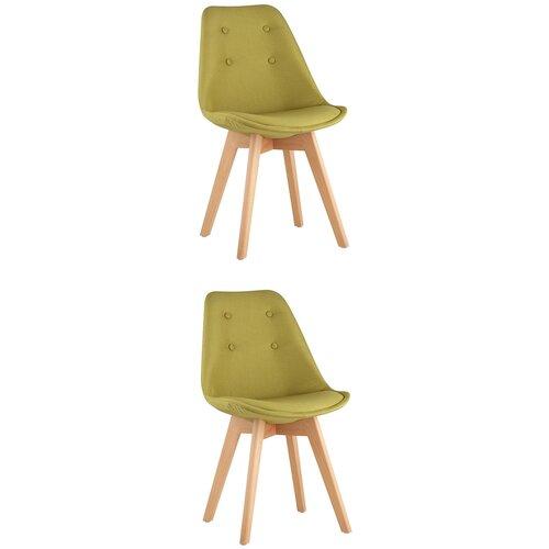 Фото - Комплект стульев для кухни 2 шт TARIQ, оливковый, дер. ножки стул stool group tariq голубой деревянные ножки tariq blue