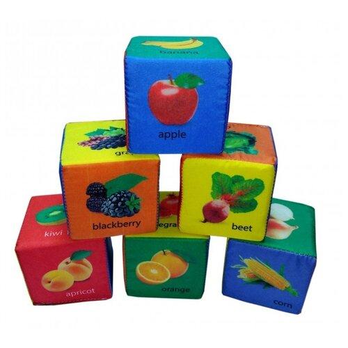 Кубики Учитель Фрукты, овощи и ягоды по-английски ИТМ-11