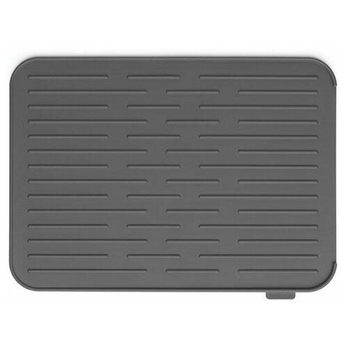 117442 Силиконовый коврик для сушки посуды, темно-серый