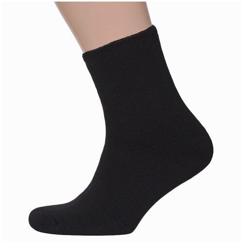 Мужские махровые носки без резинки ХОХ черные, размер 25 (39-41)
