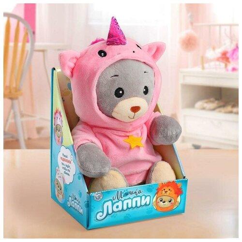 Мишка Лаппи Мягкая игрушка «Медвежонок Лаппи - единорожка», 22 см