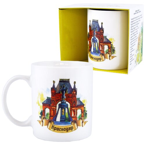 Кружка «Города России: Краснодар. Царские ворота и памятник Святой Екатерине» (подарочная упаковка)