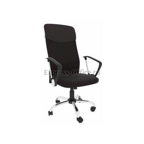 Офисное кресло Экспресс офис Leo A chrome, обивка: текстиль, цвет: ткань сетка коричневая