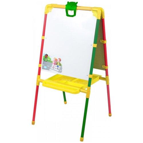 Купить Мольберт детский для рисования двухсторонний напольный Nika с большим пеналом М1 светофор, Доски и мольберты