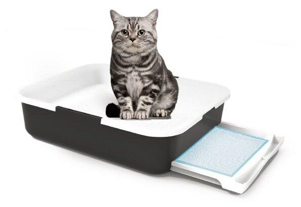 """Лоток для кошачьего туалета """"Чистый Котик"""" с выдвижным поддоном, 54*45*14 — купить по выгодной цене на Яндекс.Маркете"""
