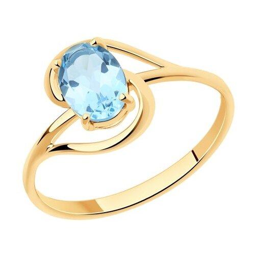 Diamant Кольцо из золота с топазом 51-310-00984-1, размер 17 diamant кольцо из золота с топазом 51 310 00971 1 размер 17