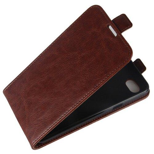 Чехол-флип MyPads для LG G6 mini / LG Q6 / LG Q6 Plus / LG Q6a M700 вертикальный откидной коричневый