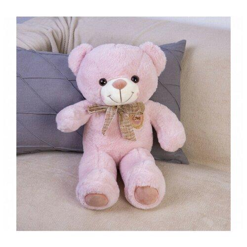 Мягкая игрушка Tomato Мишка, розовая 53 см