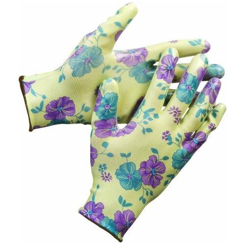 Фото - Перчатки GRINDA садовые, прозрачное нитриловое покрытие, размер S-M, зеленые перчатки садовые verdemax серо зеленые m