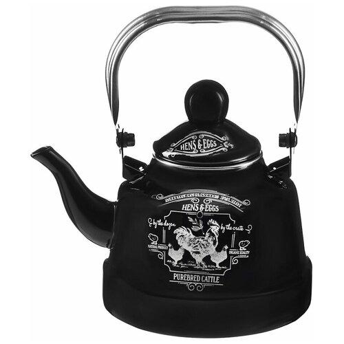 Чайник эмалированный Ранчо, VETTA, 1,1 л, индукция чайник vetta глянец 847069 2 7 л