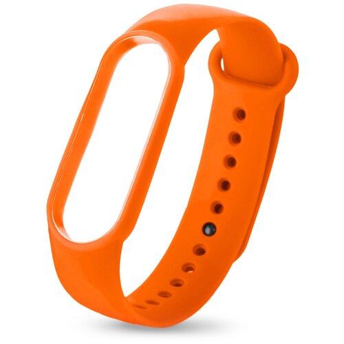 Силиконовый ремешок для Xiaomi Mi Band 5 оранжевый