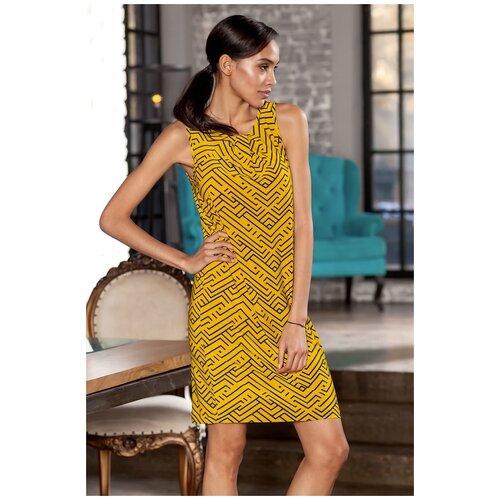 брюки ruxara ruxara mp002xw0f72l Желтое платье без рукавов с геометрическим рисунком RUXARA (7515, желтый, размер: 54)