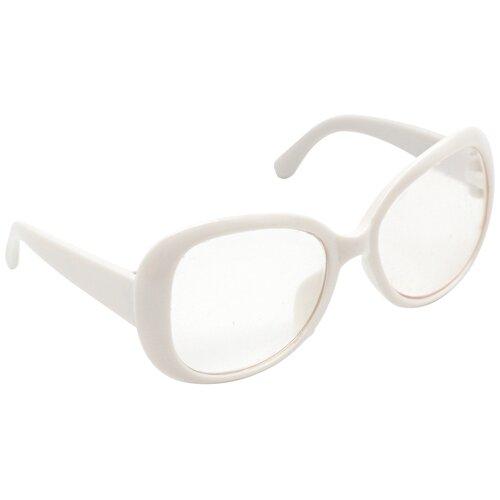 Купить 26504 Очки со стеклом, пластик, 8, 5 см, 1шт (белый), SOVUSHKA, Одежда для кукол