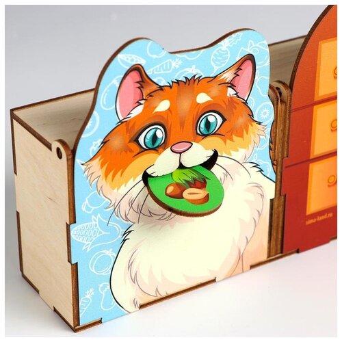 Фото - Сортер Лесная мастерская Сытый котик (5378479) сортер лесная мастерская умный малыш 3131016