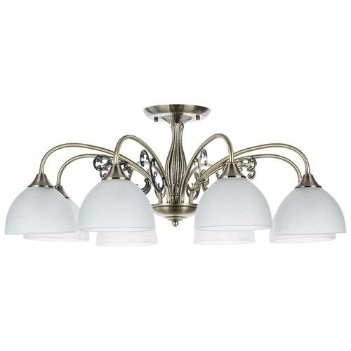 Фото - Люстра Arte Lamp A3037PL-8AB Spica, E27, 320 Вт, кол-во ламп: 8 шт., цвет арматуры: бронзовый, цвет плафона: белый люстра arte lamp enigma a3133pl 8ab 320 вт