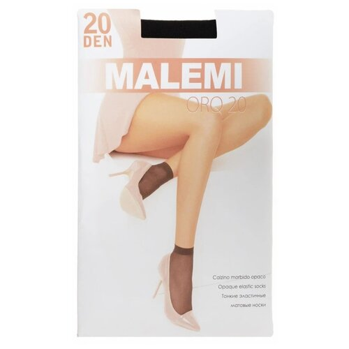 Капроновые носки Malemi Oro 20, 2 пары, размер ONE SIZE, nero
