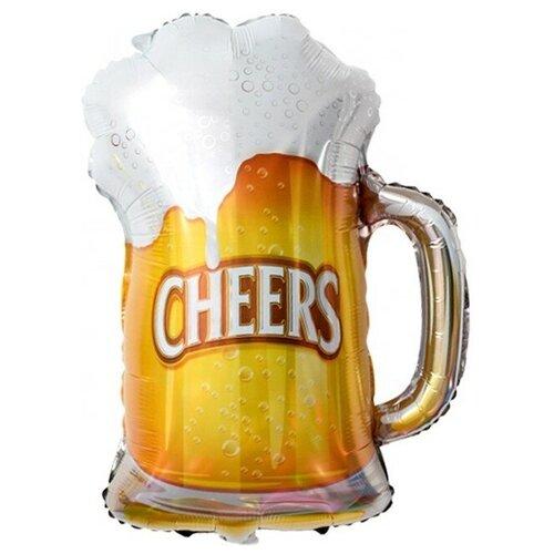 Шар с клапаном (13''/33 см) Мини-фигура, Пиво в кружке, 1 шт.