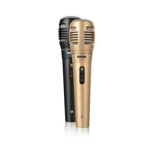 BBK Микрофон проводной BBK CM215 2.5м черный/шампань