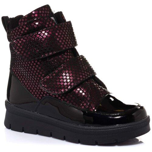 Ботинки MINIMEN размер 27, бордовый