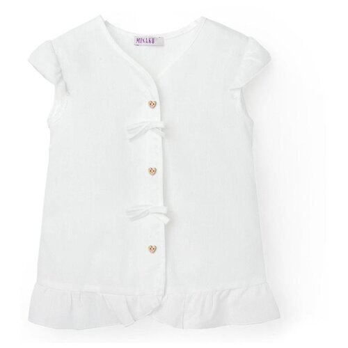 Фото - Блузка Minaku размер 116, белый блузка mek размер 116 голубой