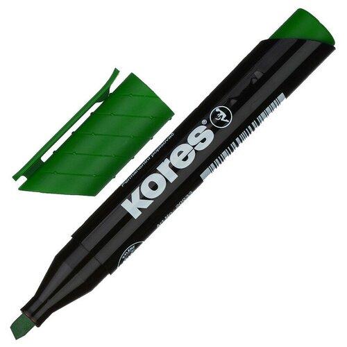 Фото - Маркер перманентный KORES зеленый 3-5 мм скошенный наконечник 20955 3 штуки маркер для досок kores красный 3 5 мм скошенный наконечник 20857 3 штуки