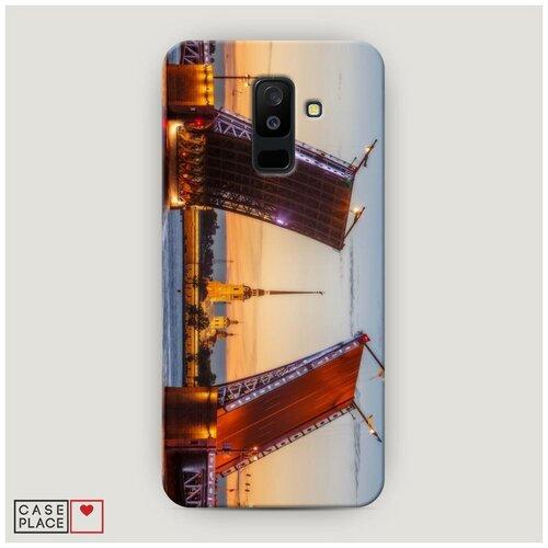 Чехол Пластиковый Samsung Galaxy A6 Plus Разведенные мосты в СПб 1