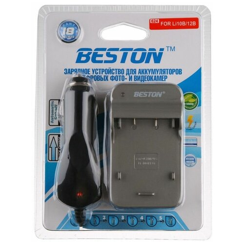 Фото - Зарядное устройство BESTON BST-624D для OLYMPUS Li-10B/12B аккумулятор vbparts li 10b 3 7v 1200mah 077153 для olympus camedia c 50