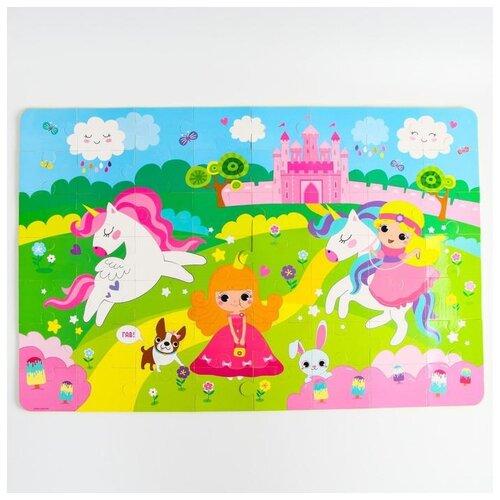 Купить Коврик-пазл Крошка Я Принцесса , 60*90 см, 56 деталей (5302630), Игровые коврики