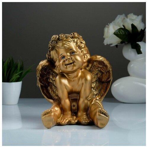 Фигура «Ангел карапуз сидя» бронза 19х22х24см фигура малышка ангел белая 25х12х12см 4786376