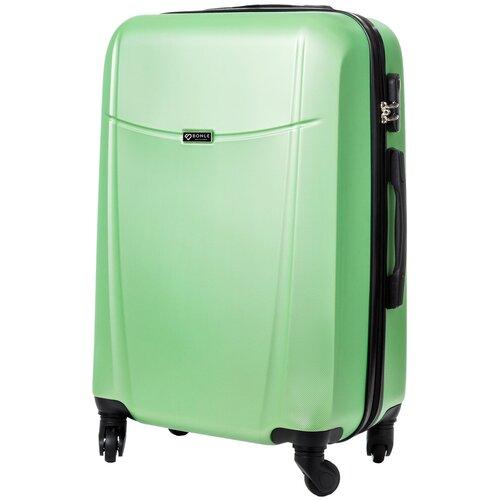 чемодан bonle премиум abs пластик салатовый размер s 55 см 37 л Чемодан Bonle, премиум ABS-пластик, Салатовый, размер M, 65 см, 62 л