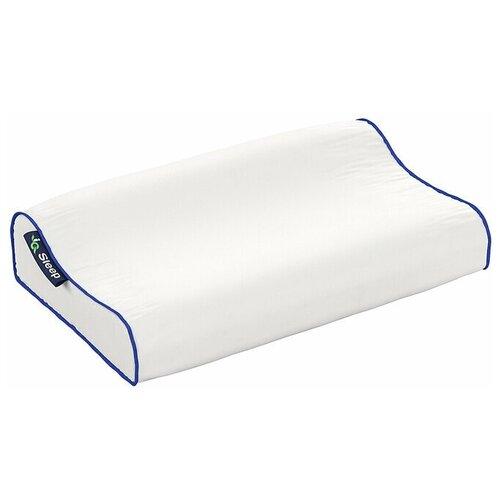 Подушка с чехлом IQ Sleep Original Soft 29х48, высота 7,5/10,5 см