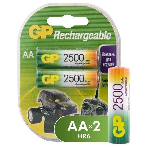 Фото - Аккумулятор GP AA/HR6 (1.2 В, 2500 mAh) NiMH (блистер, 2шт.) (250AAHC-2DECRC2) аккумулятор aa fujitsu hr 3utceu 4b 1900 mah 4 штуки