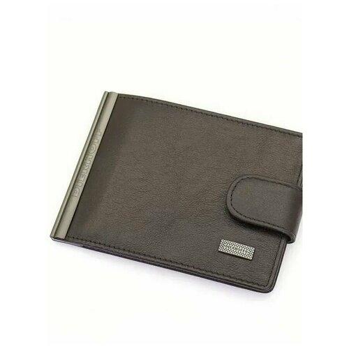 Мужской кожаный зажим для денег Dierhoff Д 8108-245 (100254)