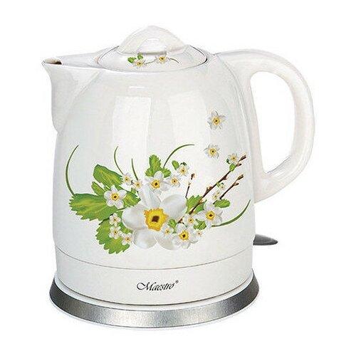 Чайник Maestro MR-066 1.5L White Flowers Green