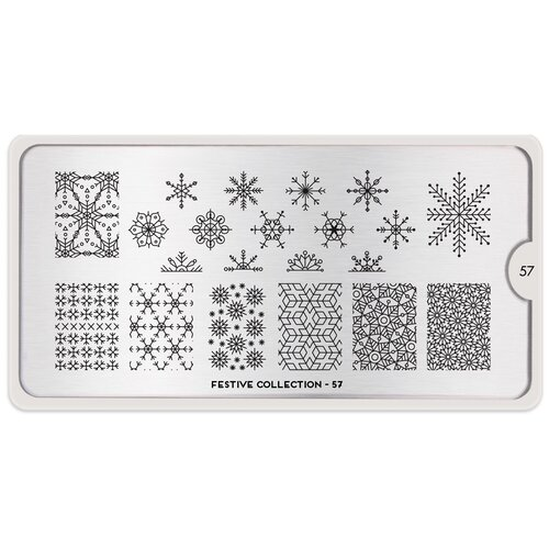 Купить Трафарет MoYou London Festive №57 12.5 х 6.5 см silver