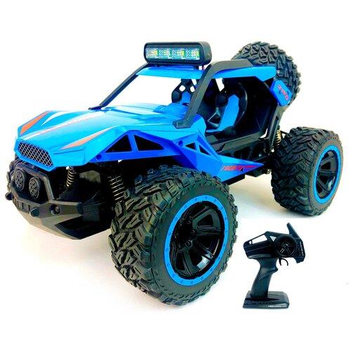 Купить Радиоуправляемый джип Storm YL-33Blue YILE TOYS, светится прожектор, машинка внедорожник на пульте управления, 1:14, аккумулятор, 2.4 GHz, 34х20х18.5 см, Радиоуправляемые игрушки